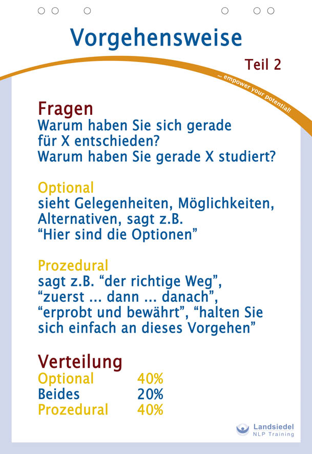 Optionen - Prozeduren