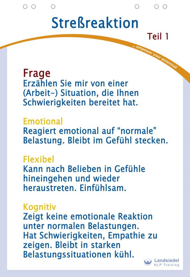 Reaktion auf Stress